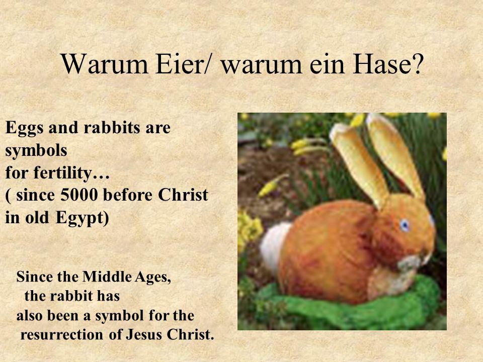 Warum Eier/ warum ein Hase