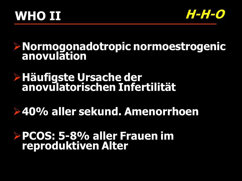H-H-O WHO II Normogonadotropic normoestrogenic anovulation