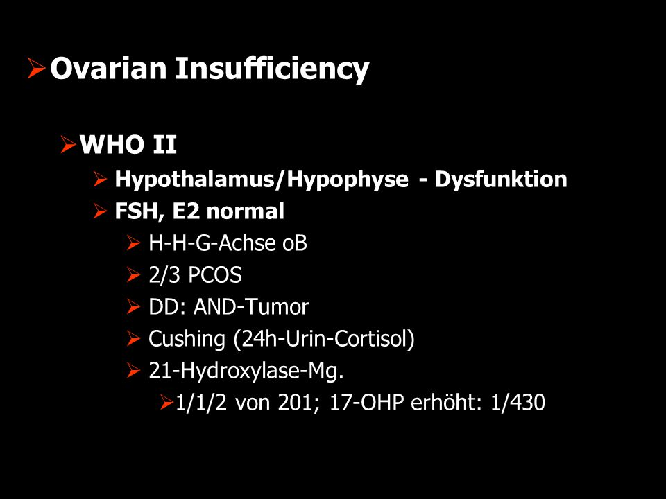 Ovarian Insufficiency