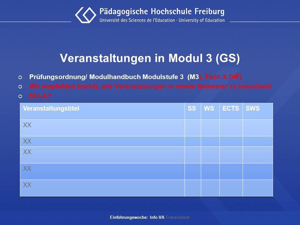 Veranstaltungen in Modul 3 (GS)