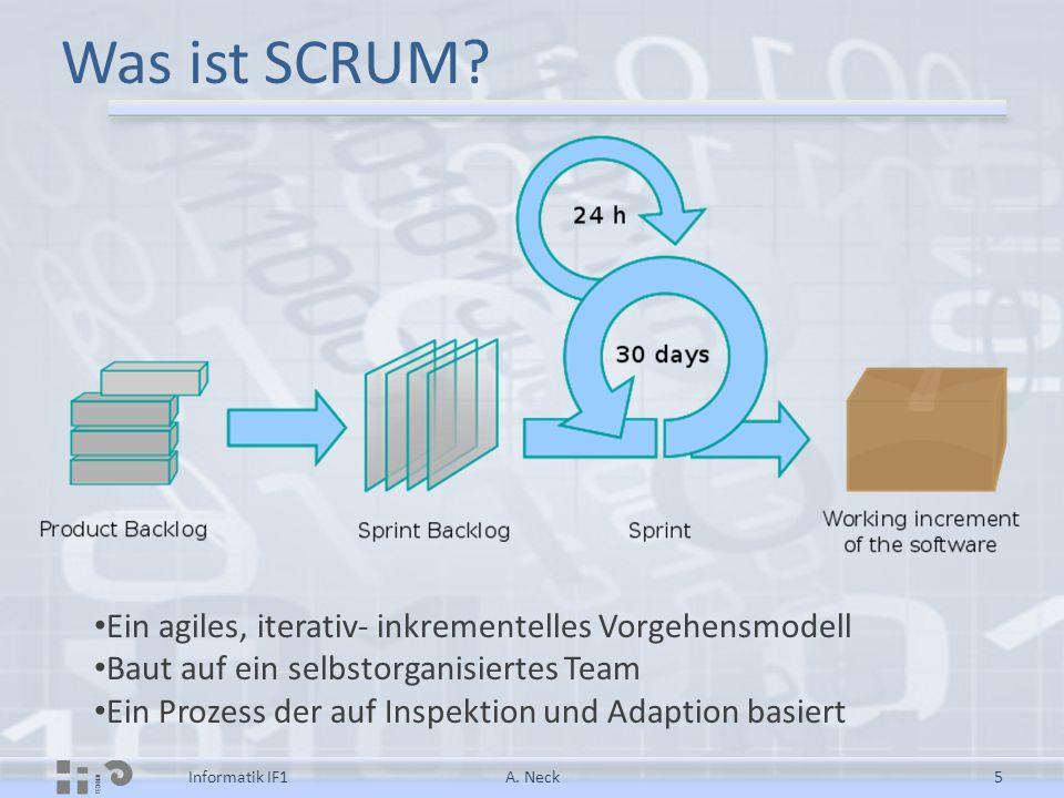 Was ist SCRUM Ein agiles, iterativ- inkrementelles Vorgehensmodell