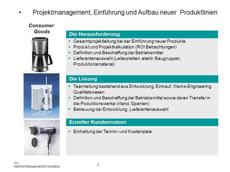 Projektmanagement, Einführung und Aufbau neuer Produktlinien