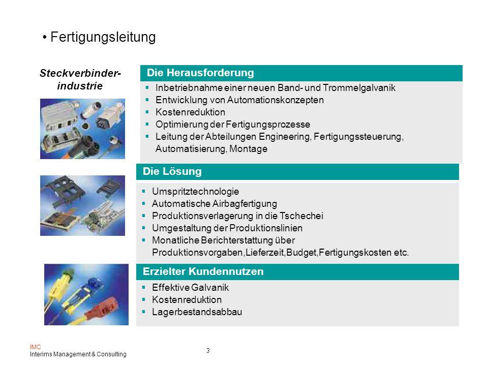 Fertigungsleitung Steckverbinder- Die Herausforderung industrie