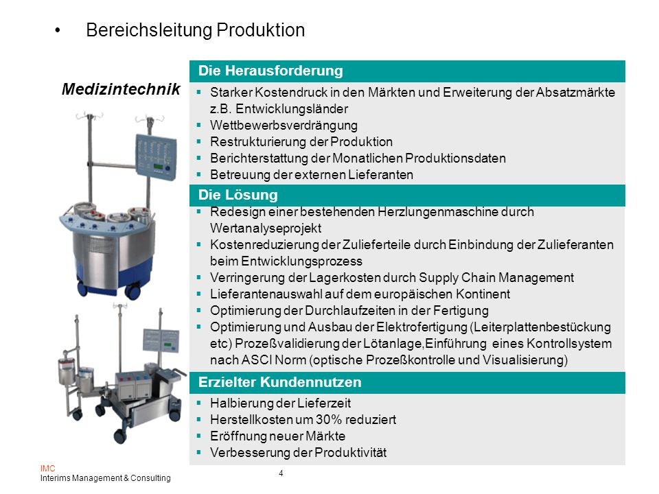 Bereichsleitung Produktion