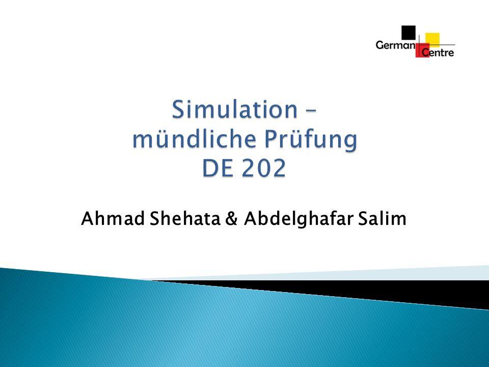 Simulation – mündliche Prüfung DE 202