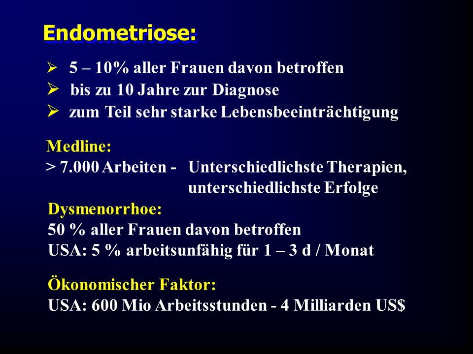Endometriose:  bis zu 10 Jahre zur Diagnose
