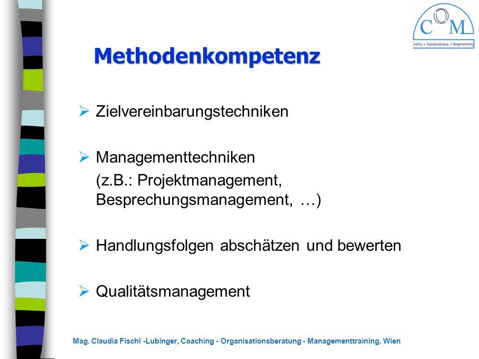 Methodenkompetenz Zielvereinbarungstechniken Managementtechniken