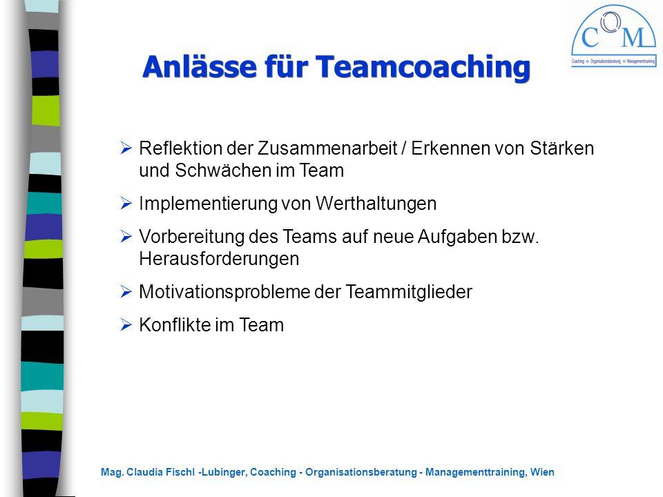 Anlässe für Teamcoaching