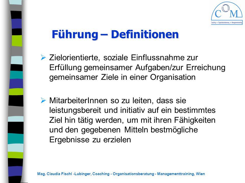 Führung – Definitionen