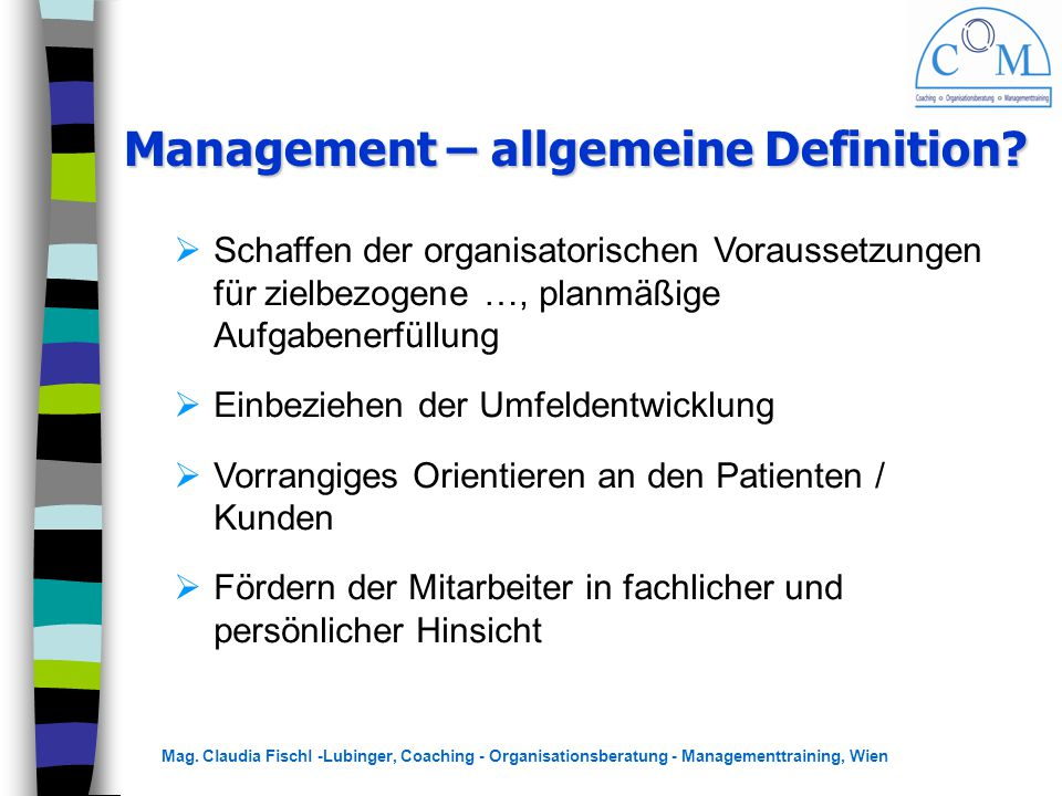Management – allgemeine Definition