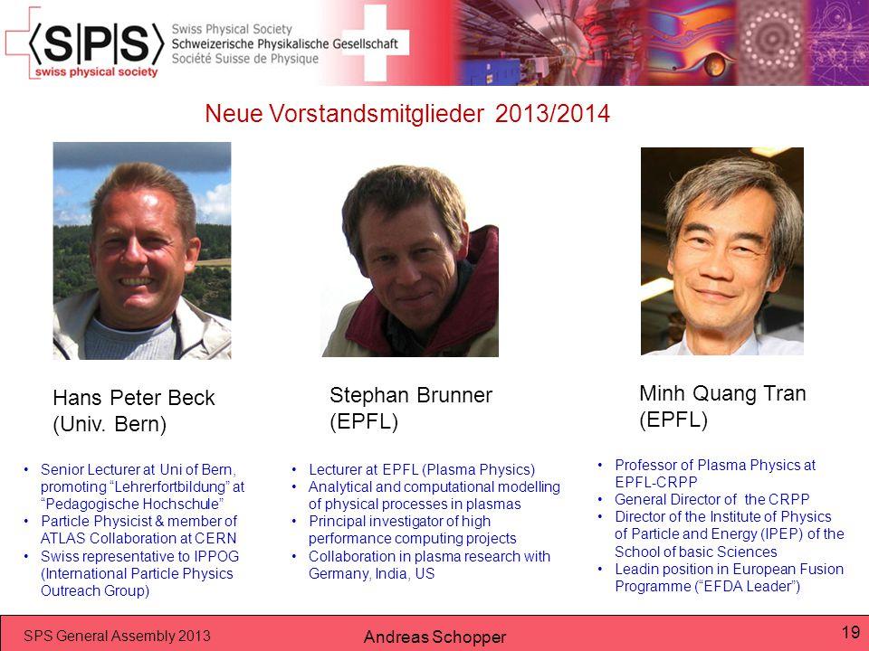 Neue Vorstandsmitglieder 2013/2014