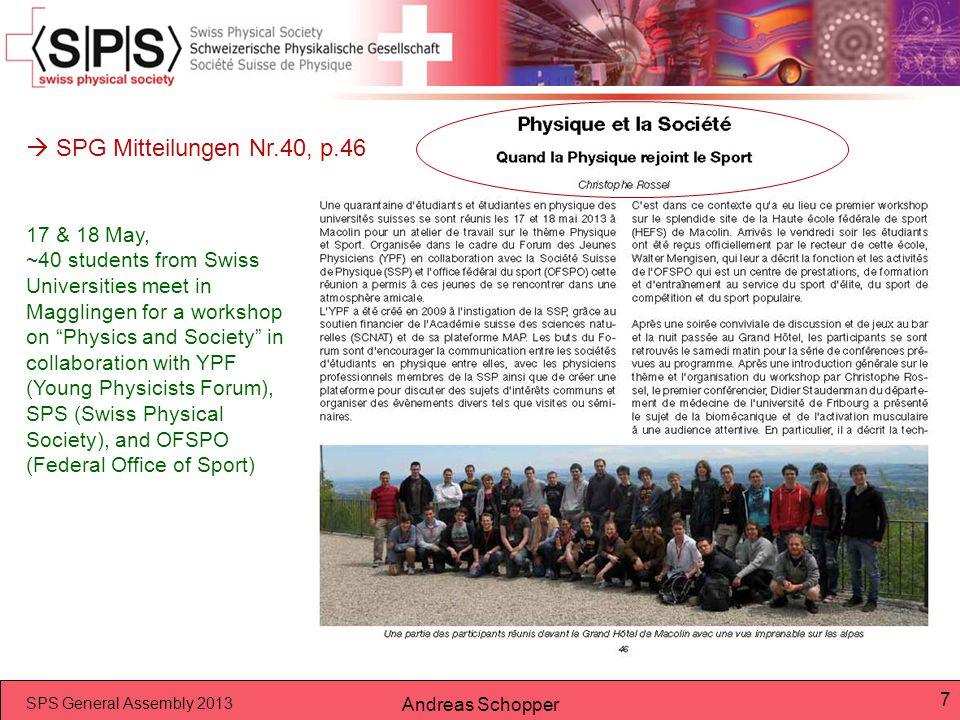  SPG Mitteilungen Nr.40, p.46 17 & 18 May,