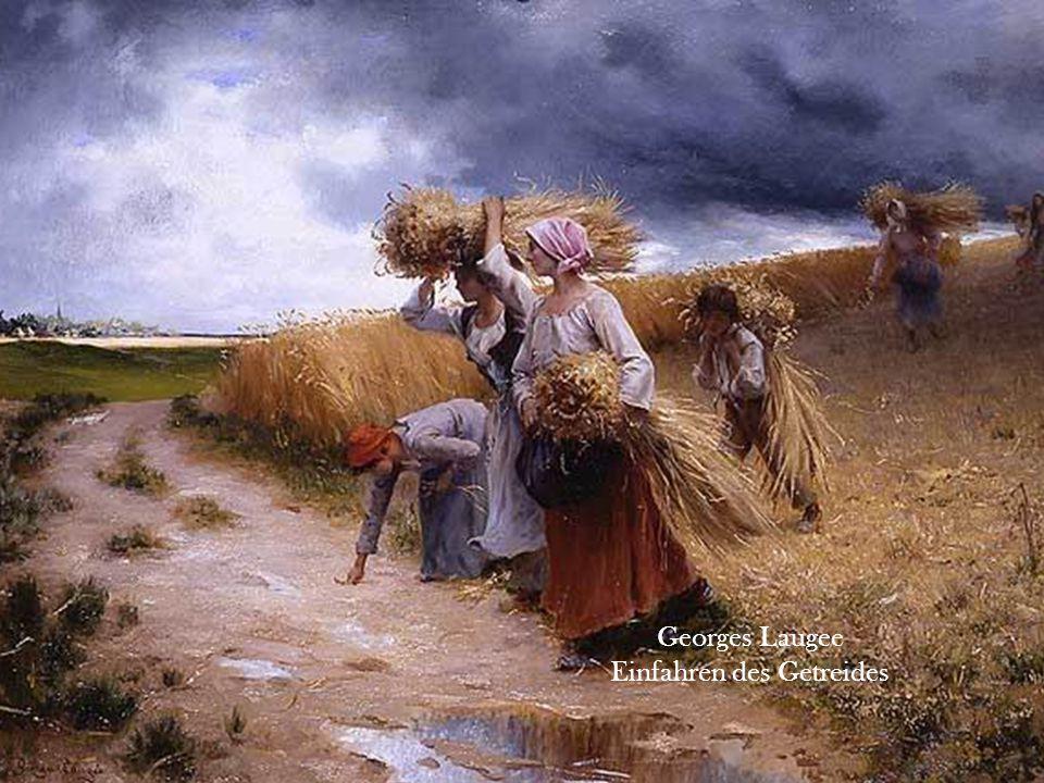 Einfahren des Getreides
