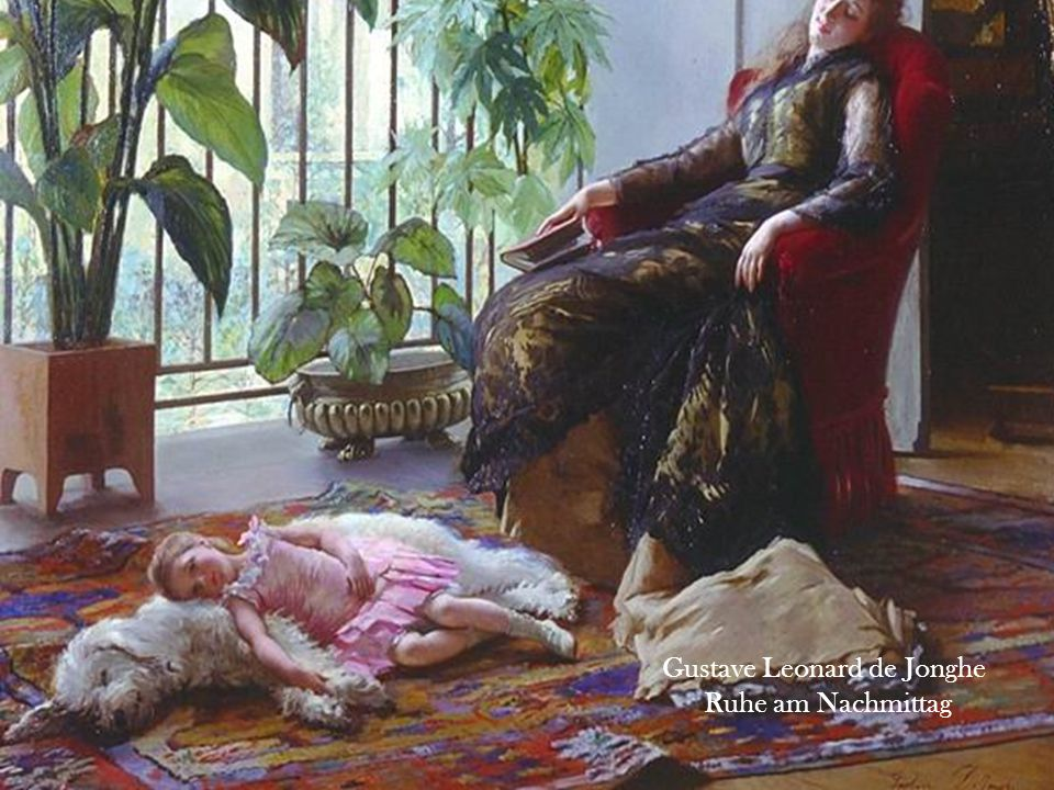 Gustave Leonard de Jonghe Ruhe am Nachmittag
