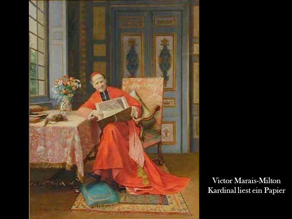 Kardinal liest ein Papier