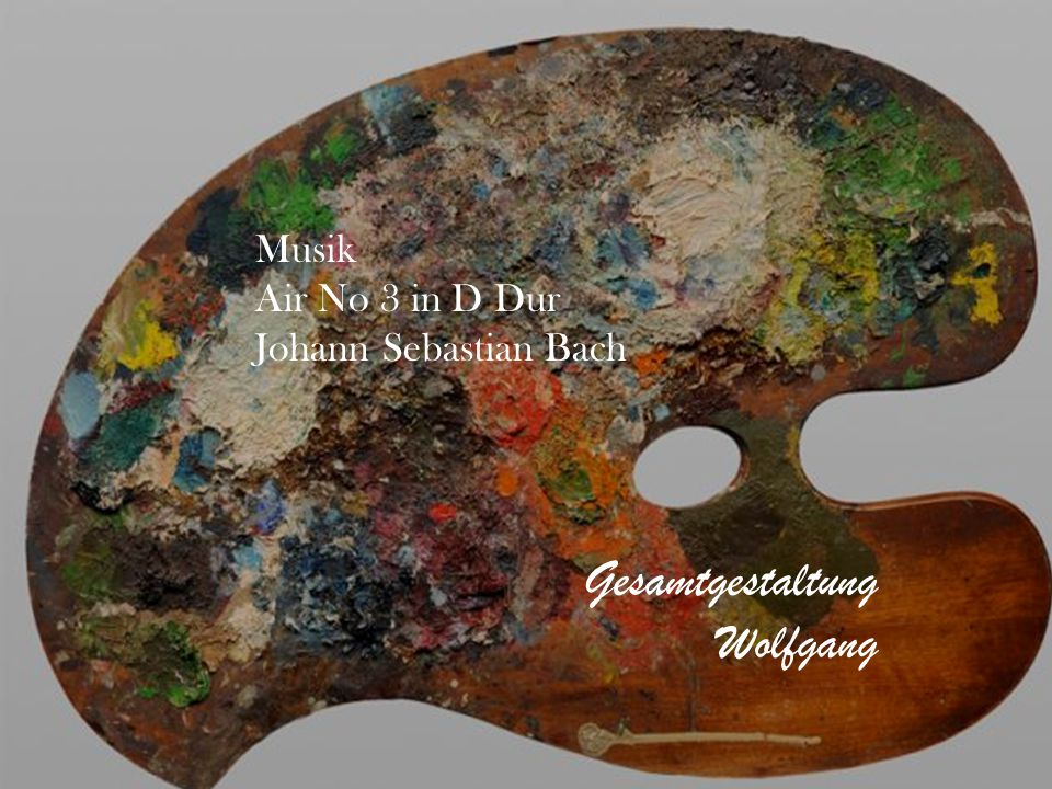 Gesamtgestaltung Wolfgang Musik Air No 3 in D Dur