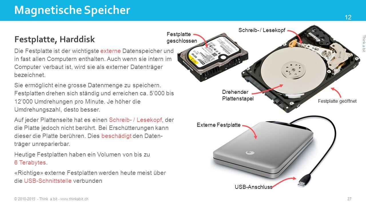 Magnetische Speicher Festplatte, Harddisk 12