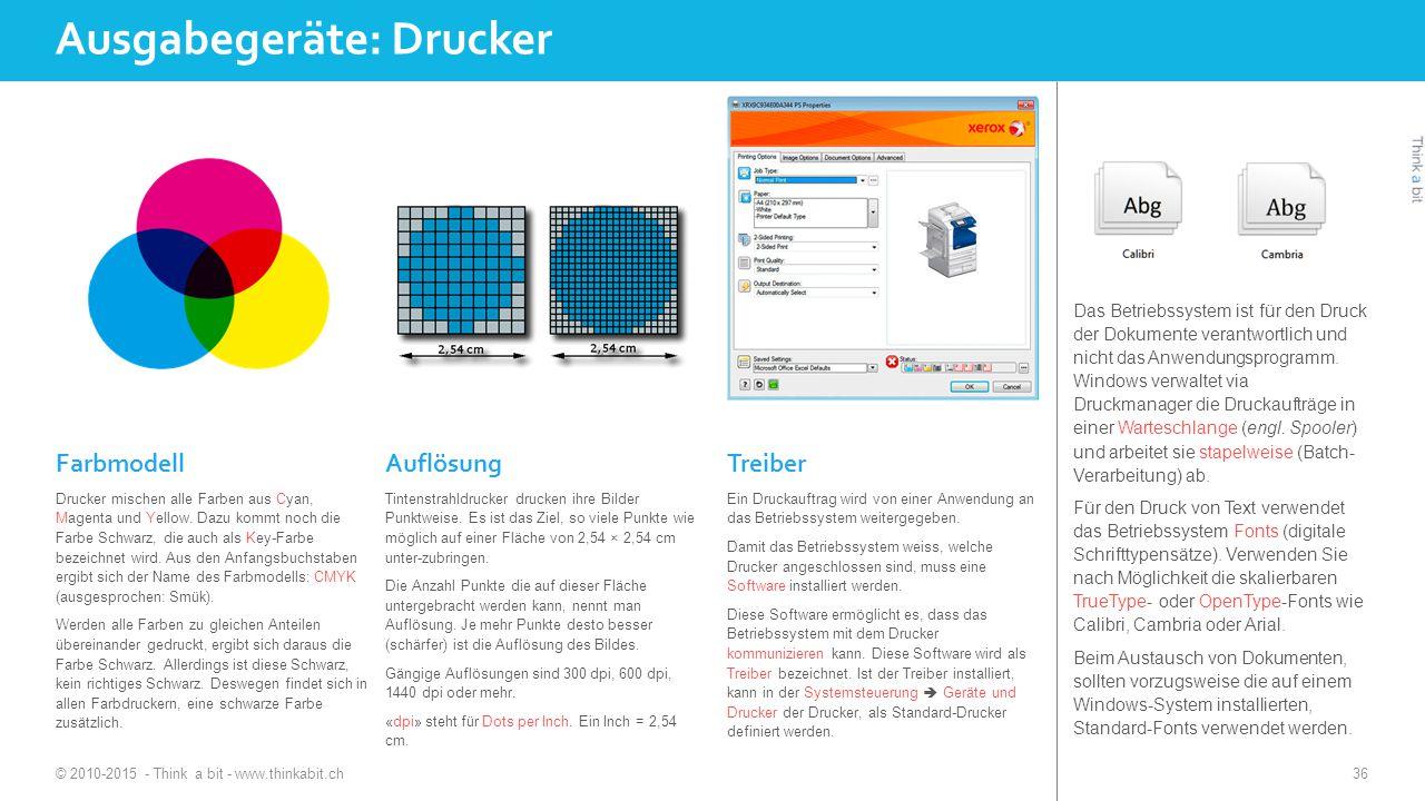 Ausgabegeräte: Drucker