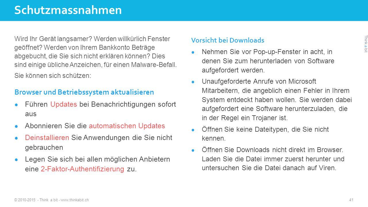 Schutzmassnahmen Browser und Betriebssystem aktualisieren