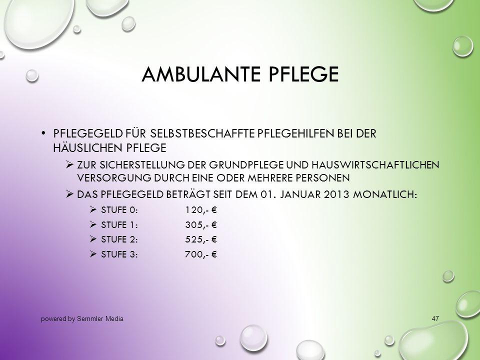 14.10.2013 Ambulante Pflege. Pflegegeld für selbstbeschaffte Pflegehilfen bei der häuslichen Pflege.