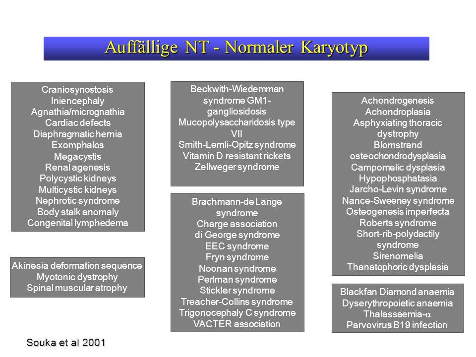 Auffällige NT - Normaler Karyotyp