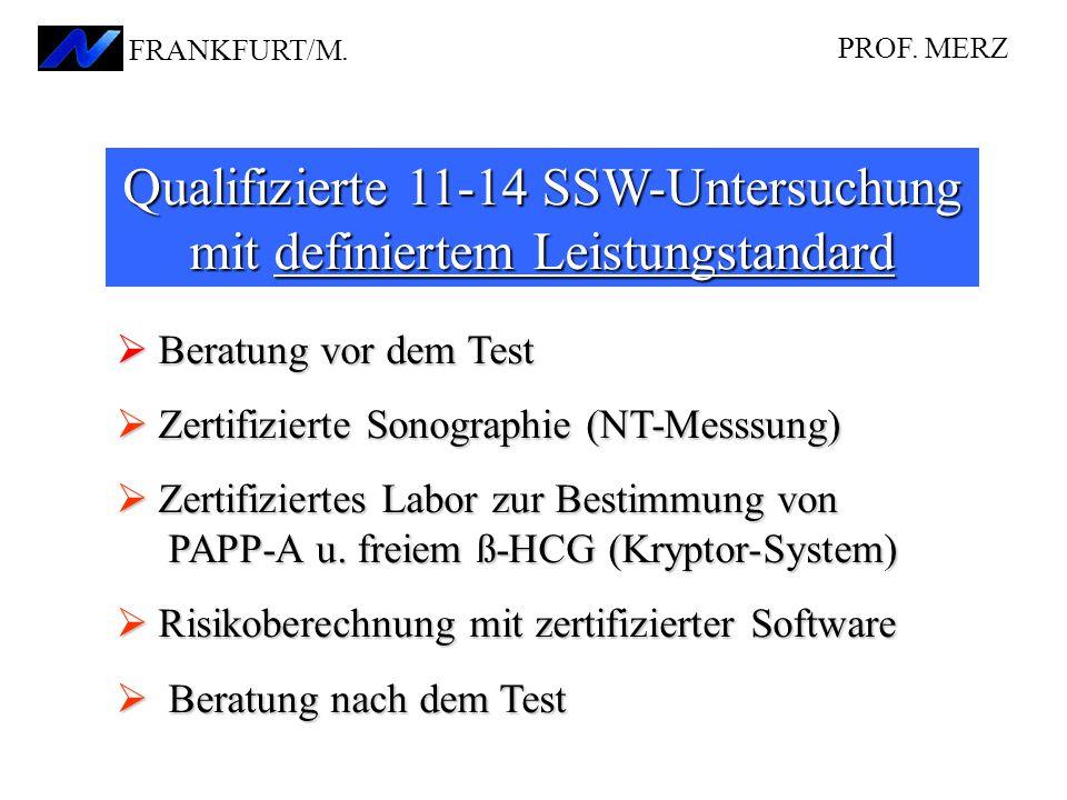 Qualifizierte 11-14 SSW-Untersuchung mit definiertem Leistungstandard