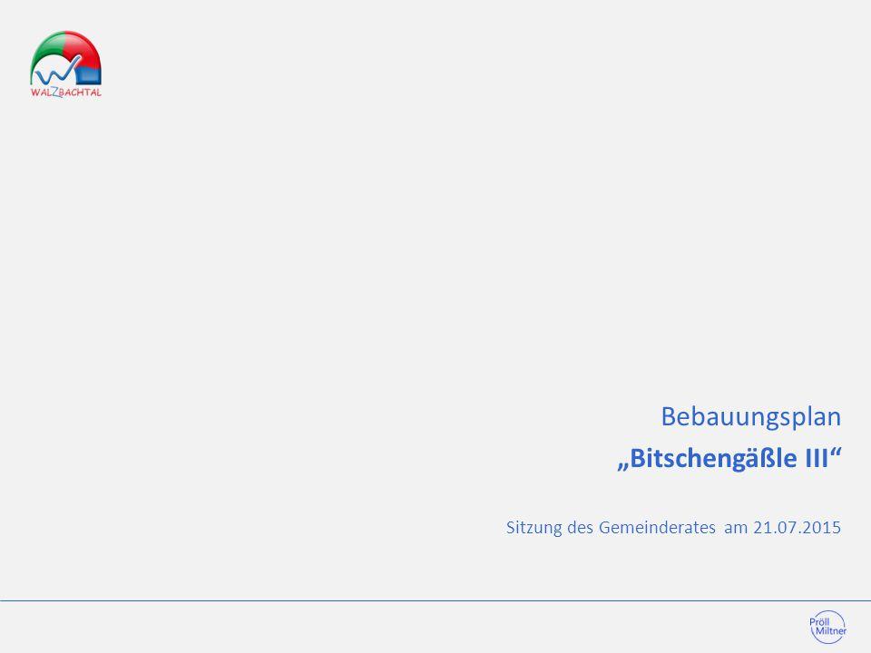 """Bebauungsplan """"Bitschengäßle III"""