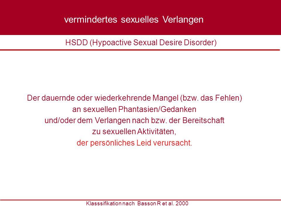 vermindertes sexuelles Verlangen