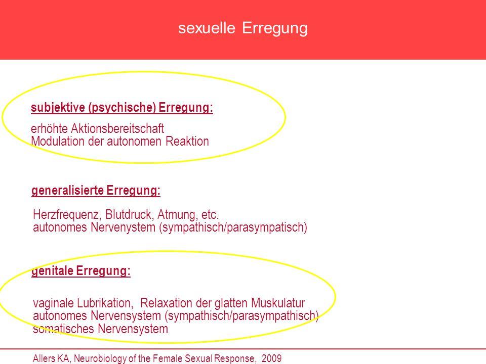 sexuelle Erregung subjektive (psychische) Erregung: