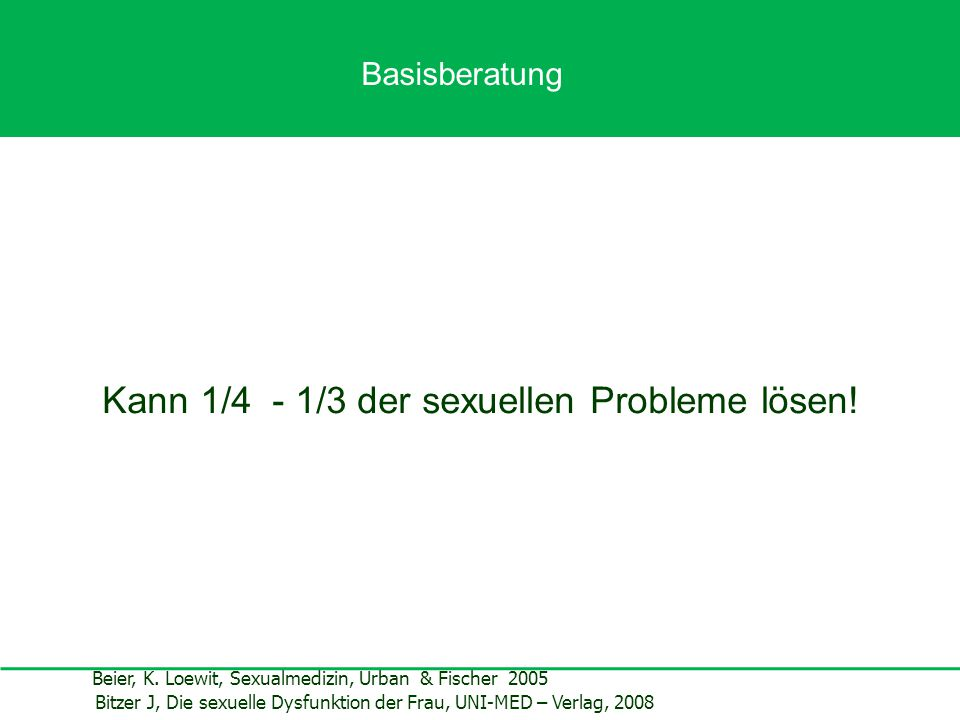 Kann 1/4 - 1/3 der sexuellen Probleme lösen!