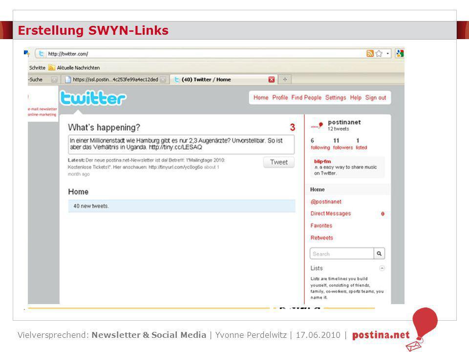 Erstellung SWYN-Links