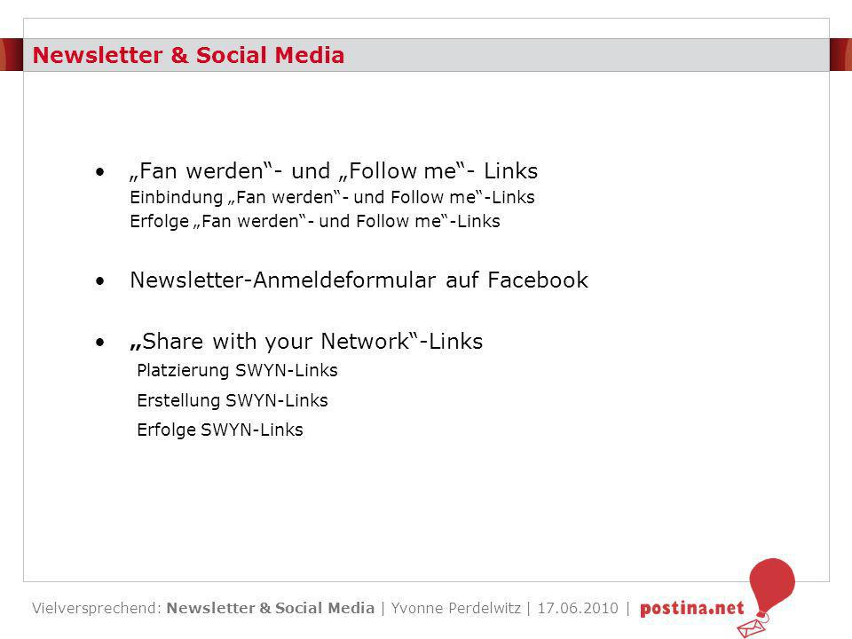 Newsletter & Social Media