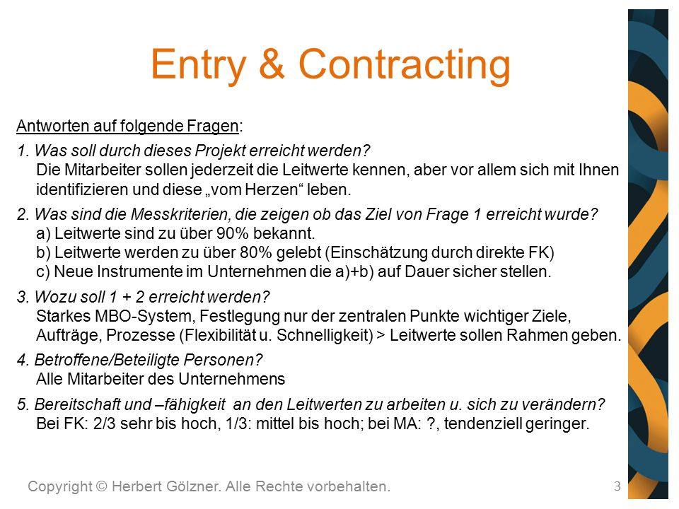 Entry & Contracting