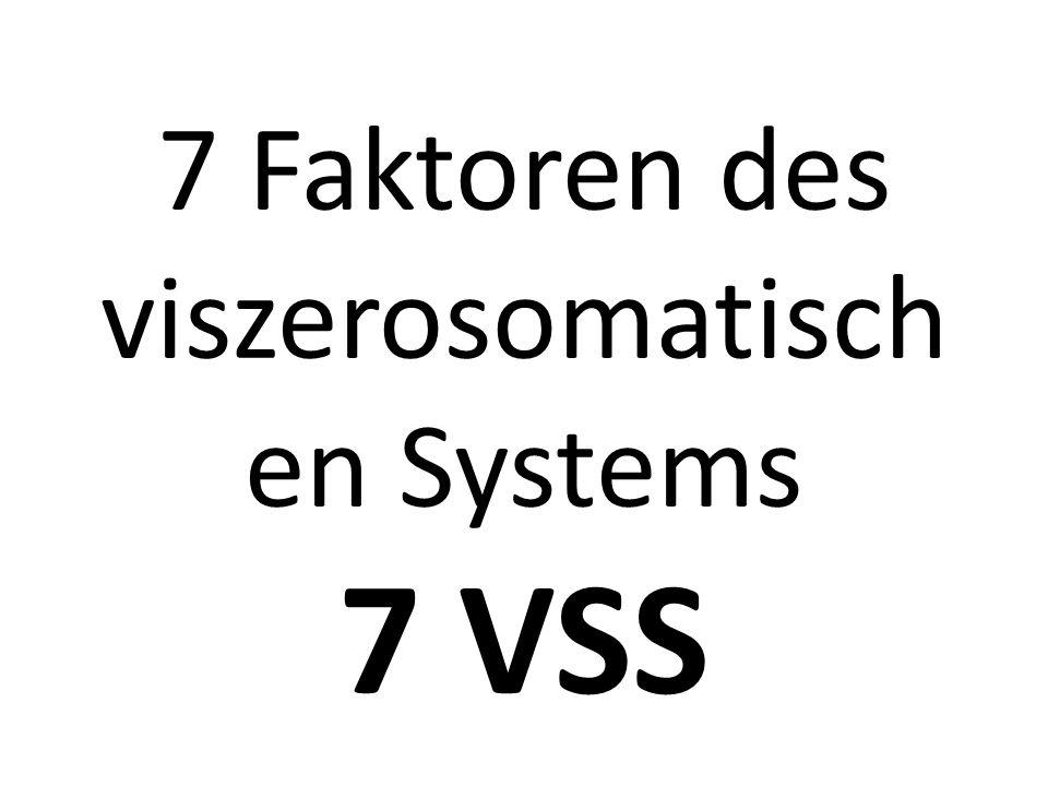 7 Faktoren des viszerosomatischen Systems 7 VSS