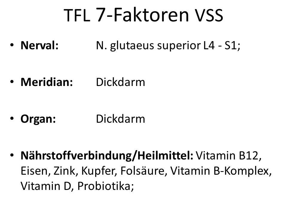 TFL 7-Faktoren VSS Nerval: N. glutaeus superior L4 - S1;