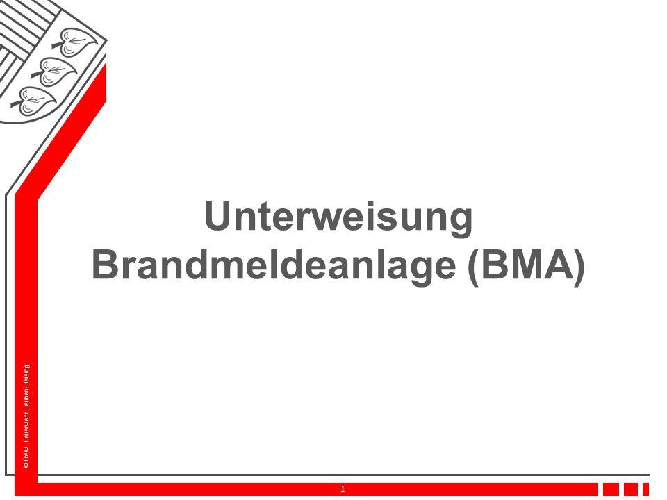 Unterweisung Brandmeldeanlage (BMA)