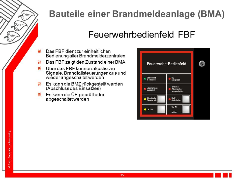 Feuerwehrbedienfeld FBF