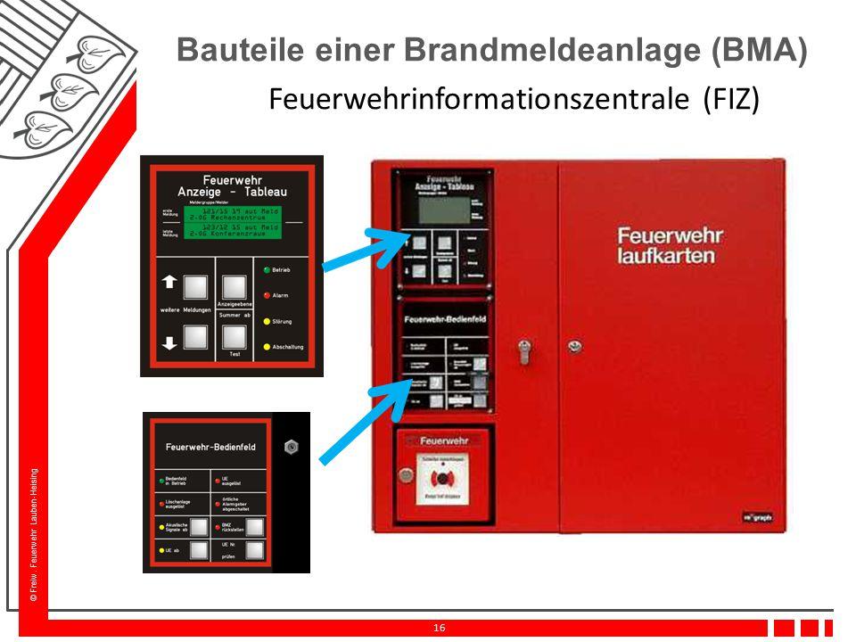 Bauteile einer Brandmeldeanlage (BMA)