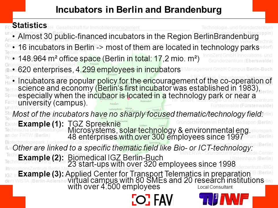 Incubators in Berlin and Brandenburg