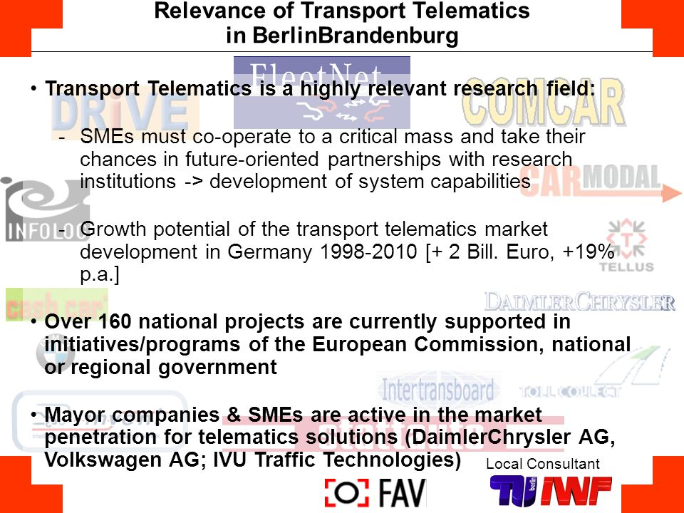 Relevance of Transport Telematics