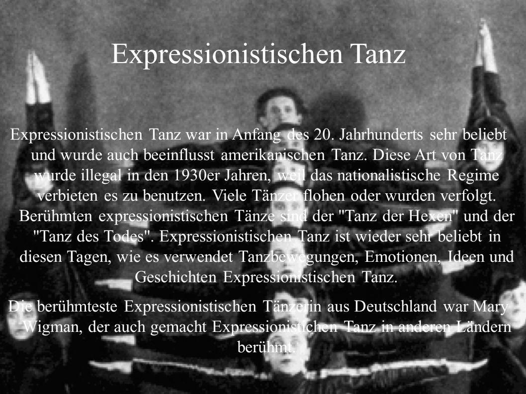 Expressionistischen Tanz
