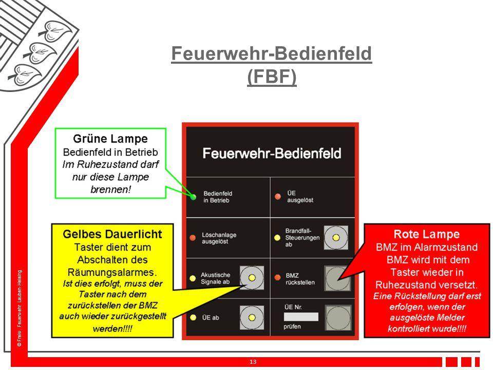 Feuerwehr-Bedienfeld (FBF)