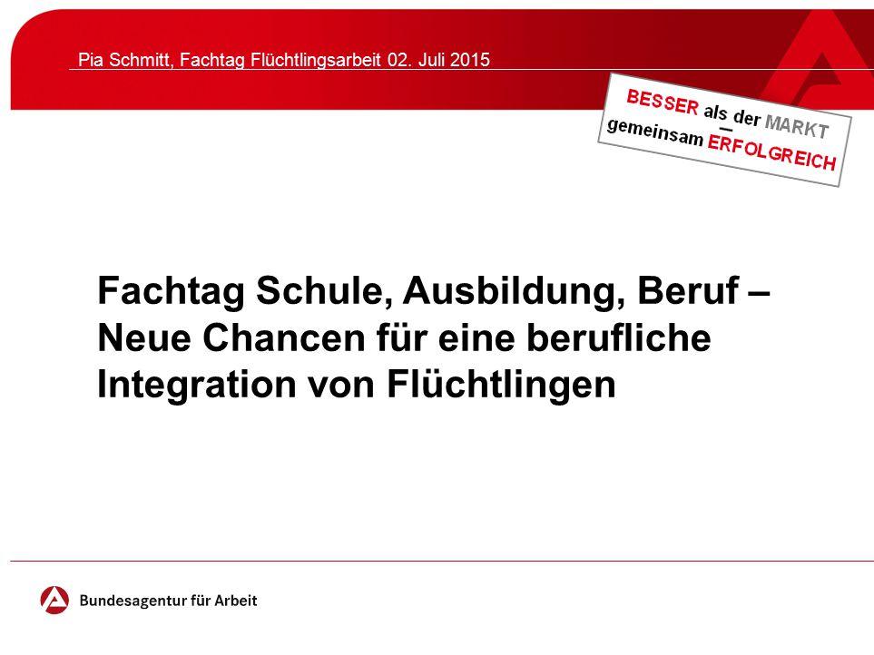 Pia Schmitt, Fachtag Flüchtlingsarbeit 02. Juli 2015