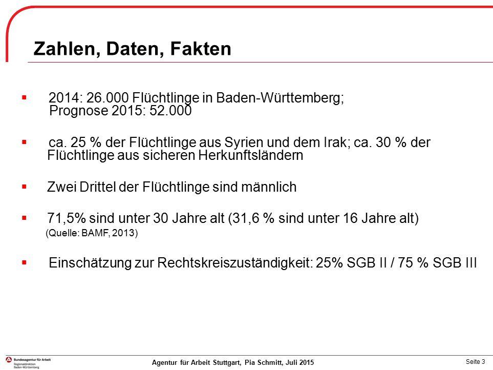 Zahlen, Daten, Fakten 2014: 26.000 Flüchtlinge in Baden-Württemberg;