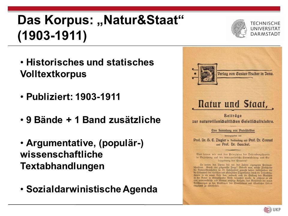 """Das Korpus: """"Natur&Staat (1903-1911)"""