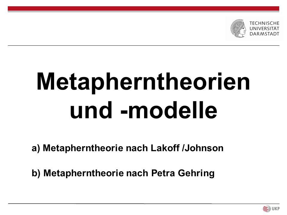 Metapherntheorien und -modelle
