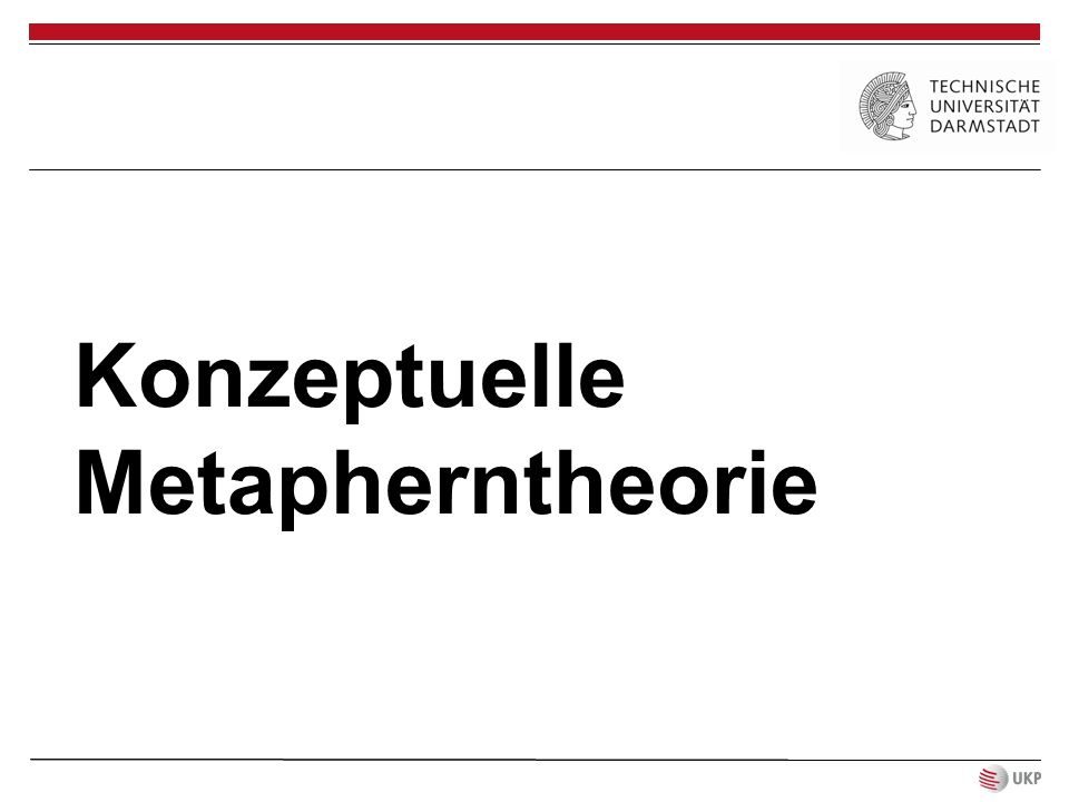 Konzeptuelle Metapherntheorie