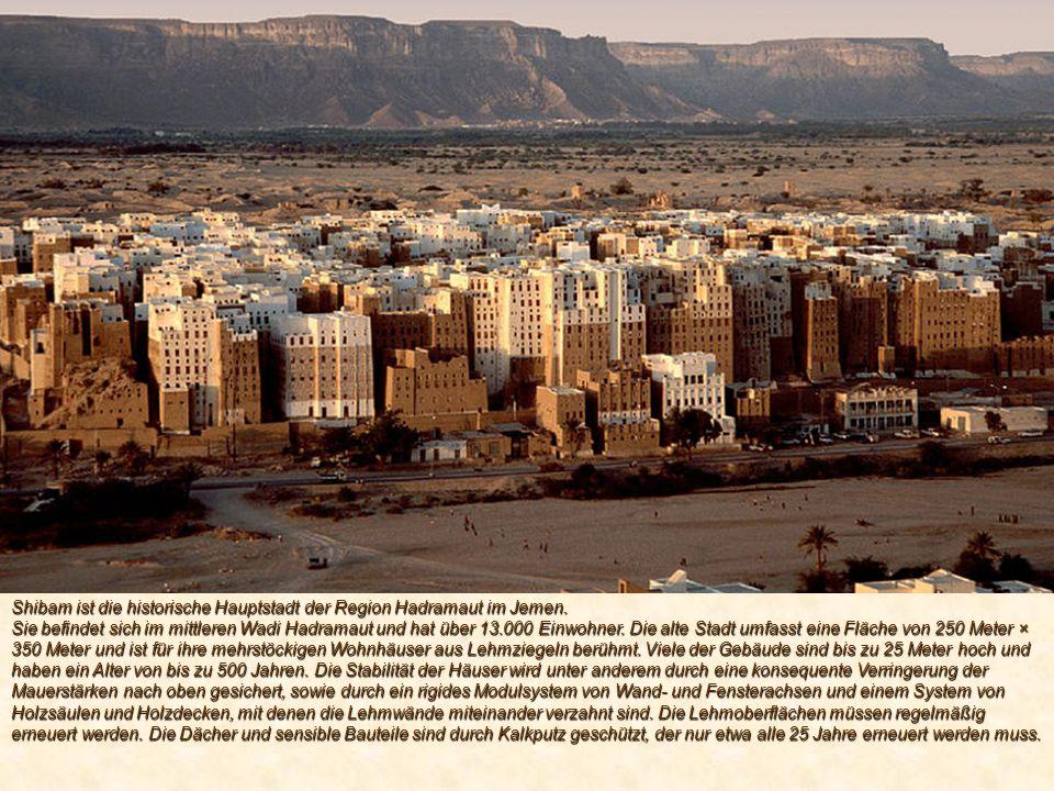 Shibam ist die historische Hauptstadt der Region Hadramaut im Jemen.