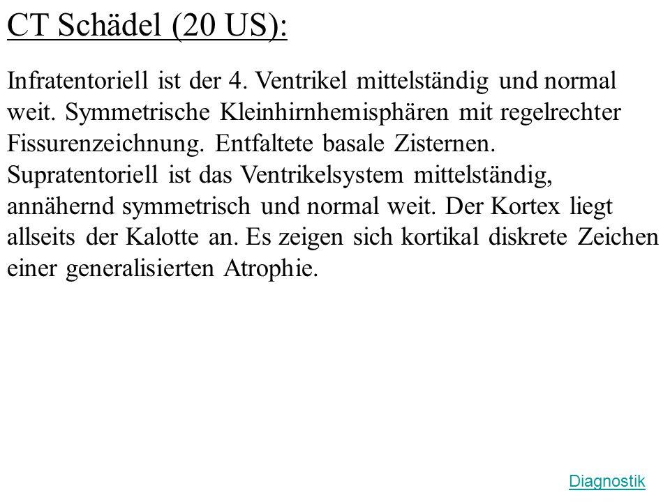 CT Schädel (20 US):