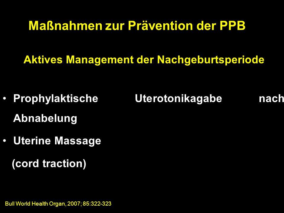 Maßnahmen zur Prävention der PPB
